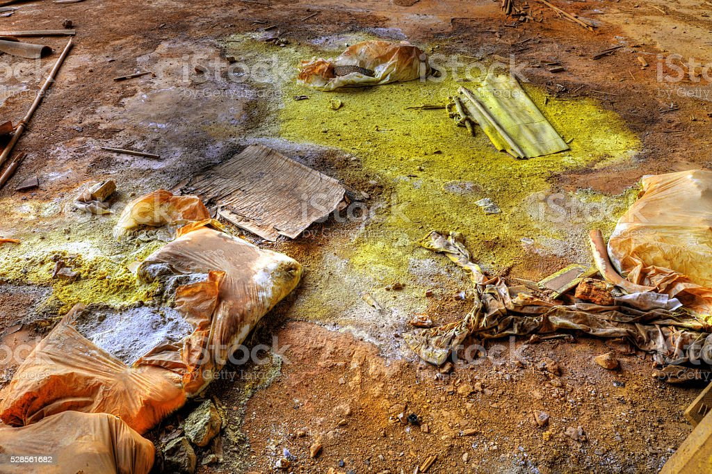 chemical industry waste stock photo