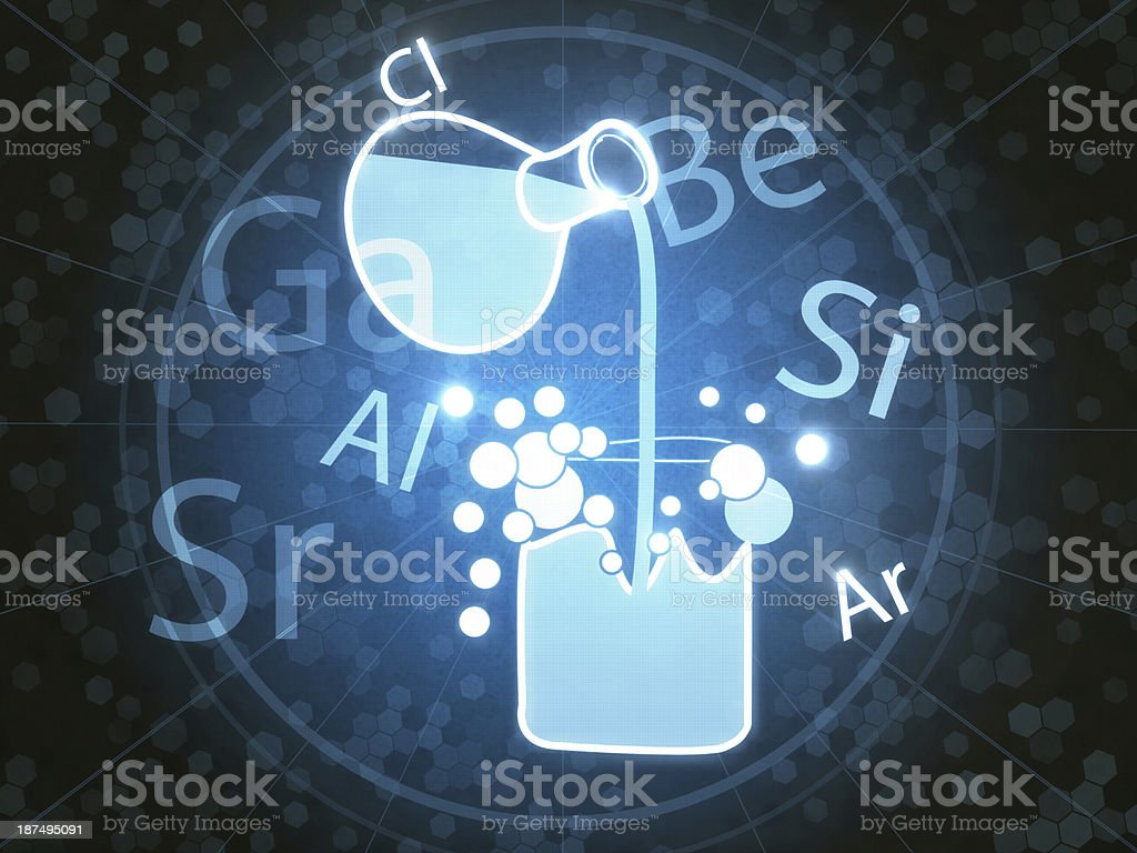 Chemical Interaction royalty-free stock photo