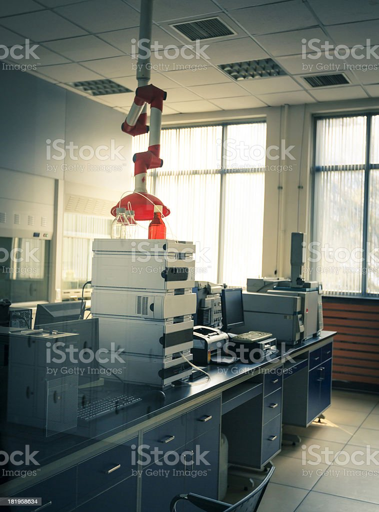 Chemical laboratory at a university. royalty-free stock photo