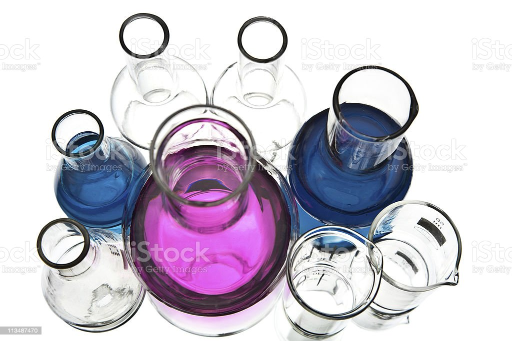 chemical laboratory equipment isolated royalty-free stock photo
