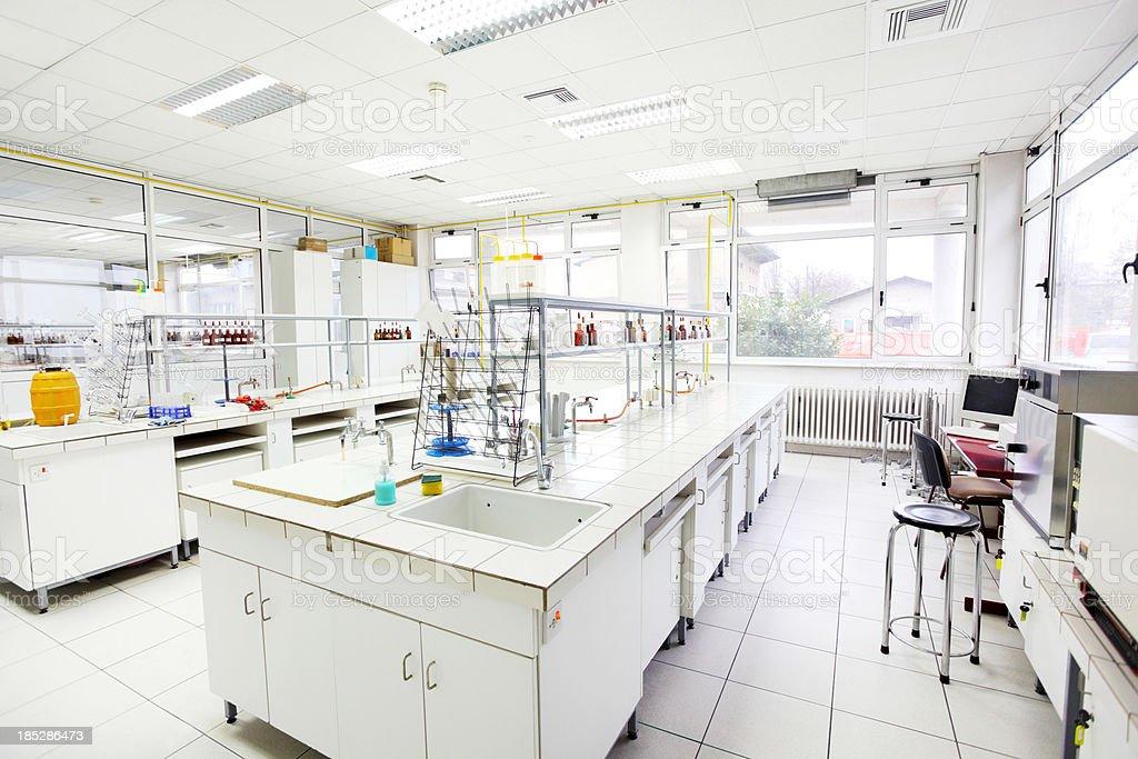 Chemical laboratory. royalty-free stock photo