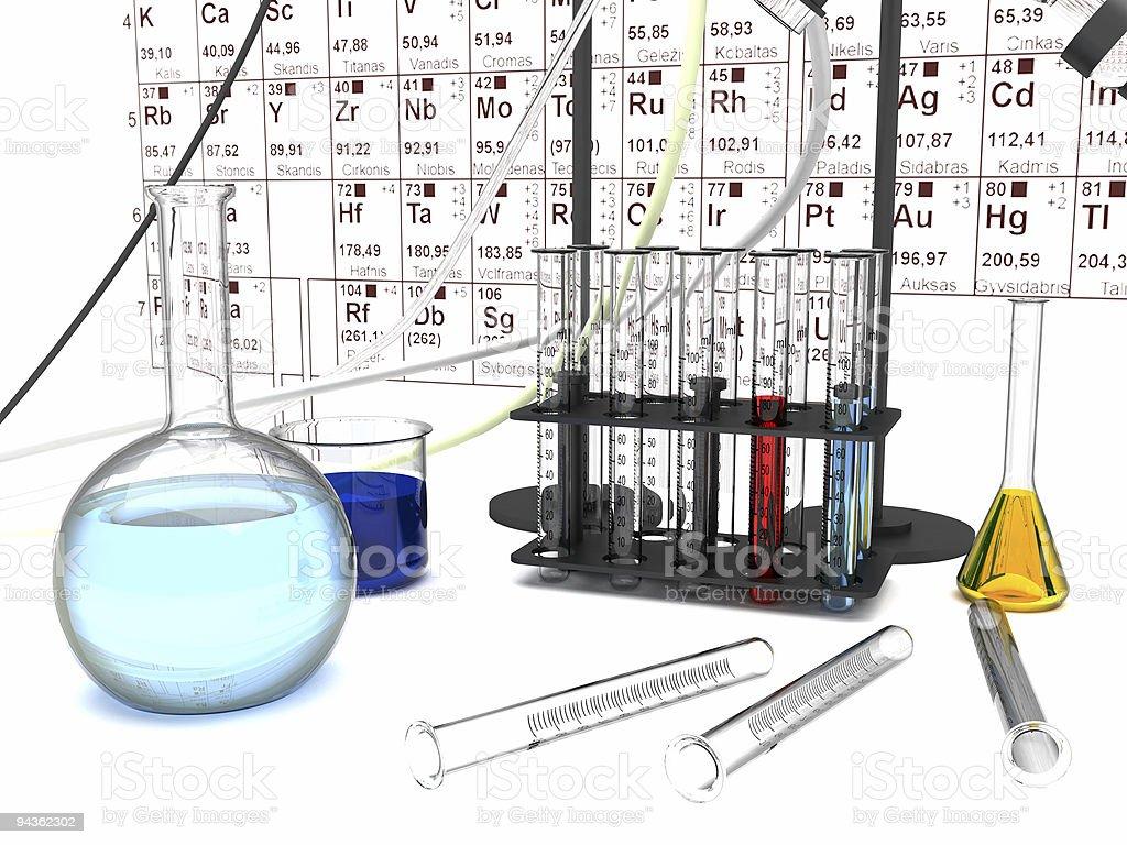 Chemical laboratory royalty-free stock photo