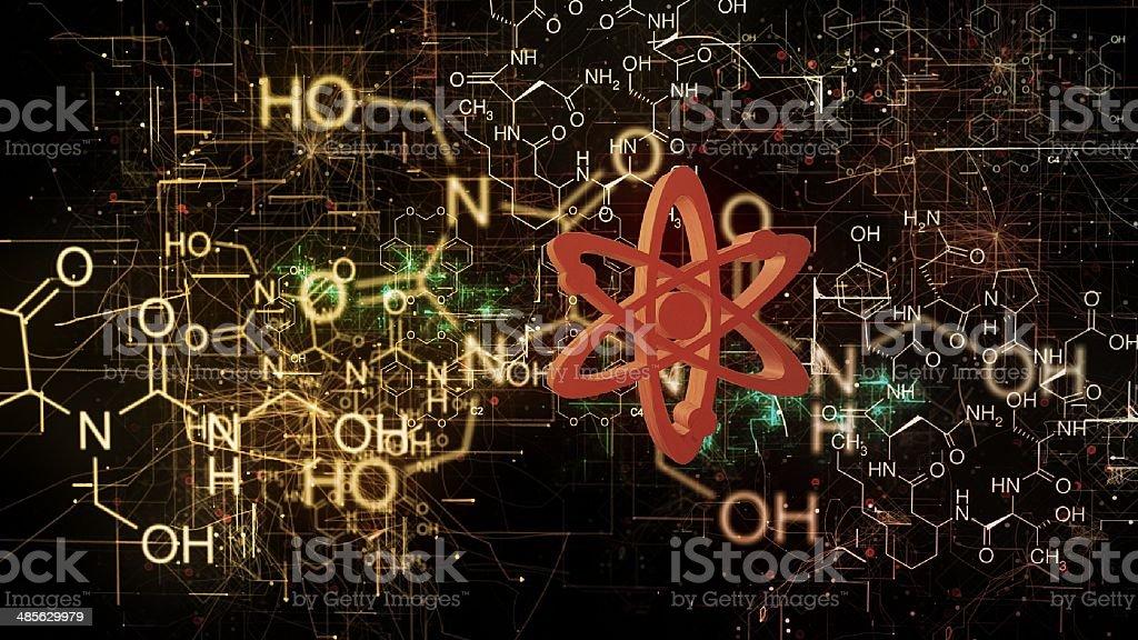 chemical molecule stock photo