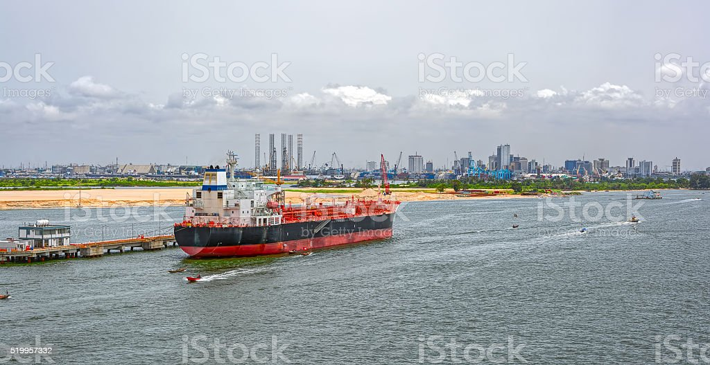 Chemical Oil Products Tanker (tankship) stock photo