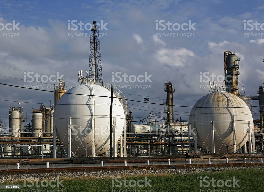 Chemical plant background royalty-free stock photo