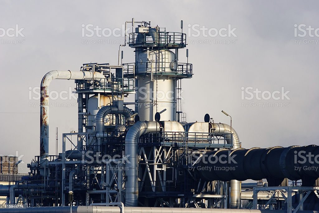 Chemical plant details royalty-free stock photo
