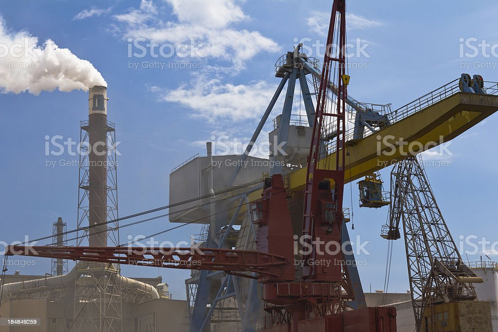 Chemical Plant royalty-free stock photo