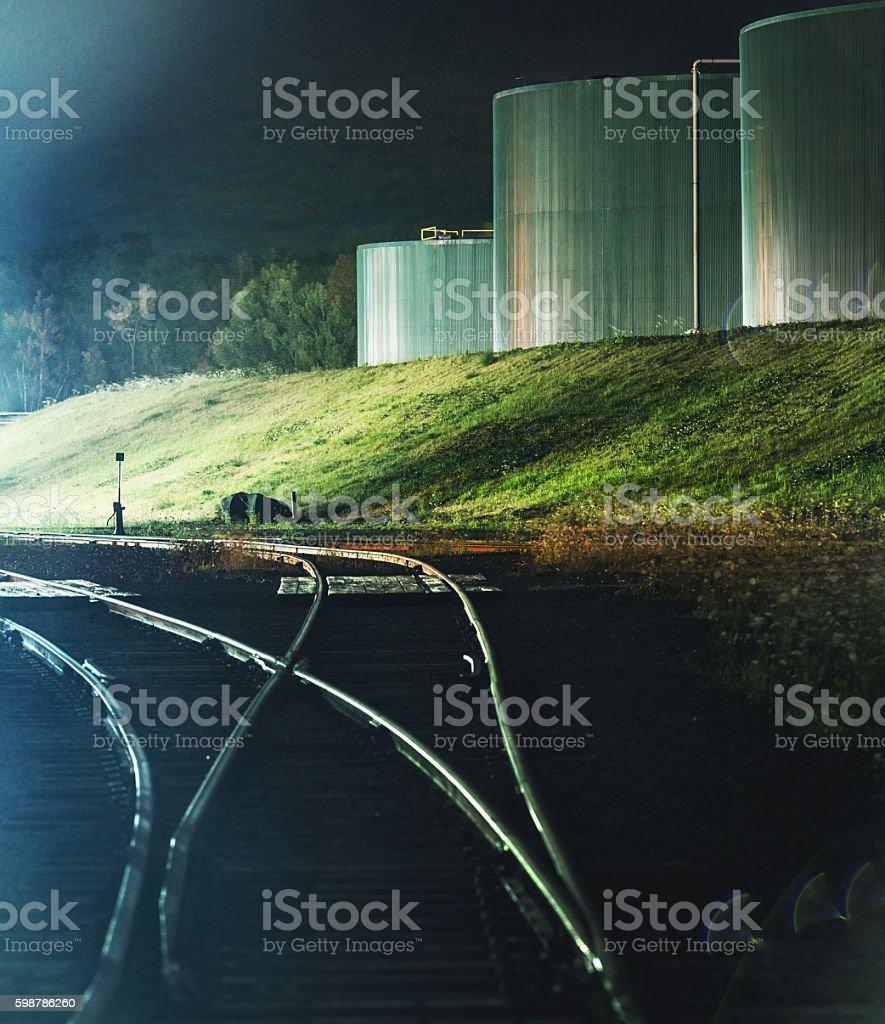 Chemical Plant Tanks stock photo