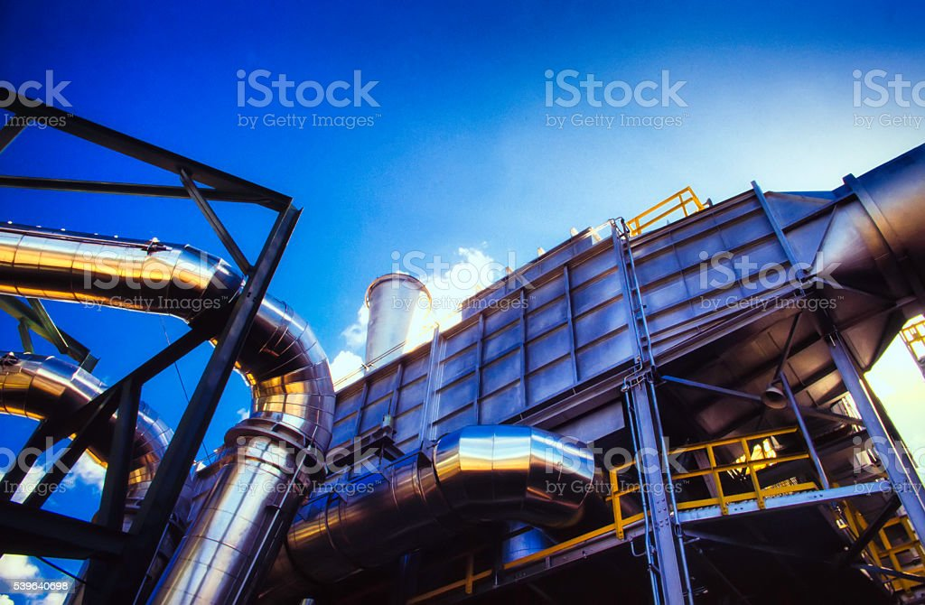 Chemical Plant With Pipe stock photo
