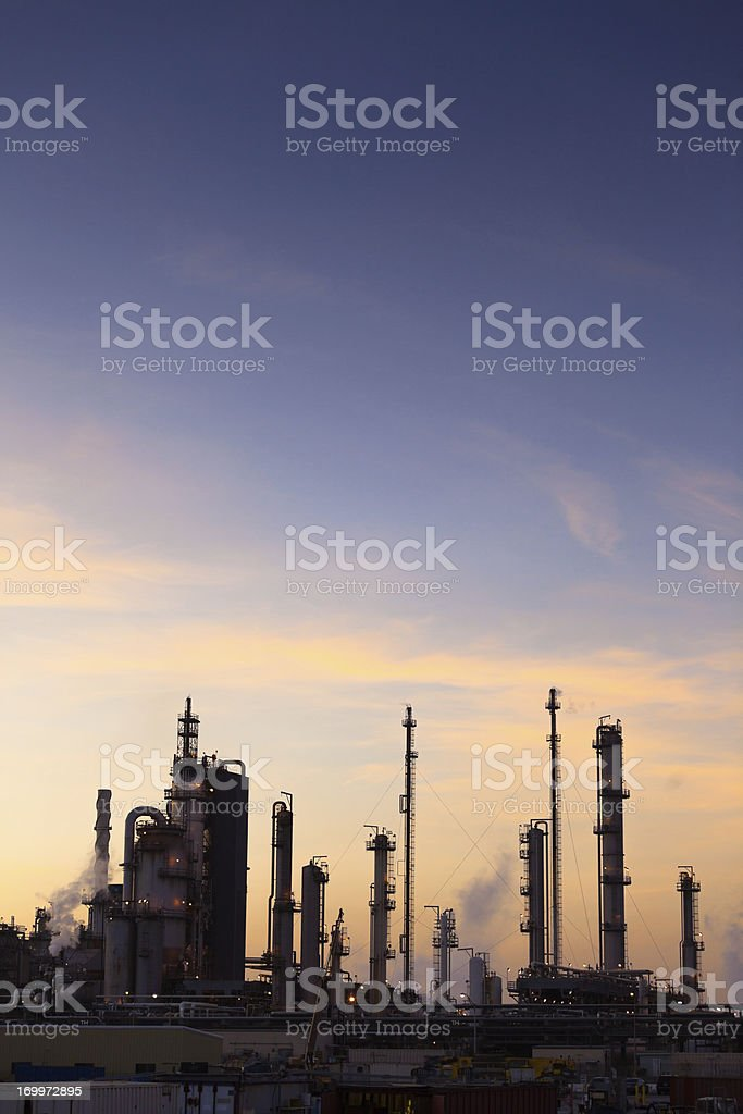 Chemical Plant/Oil Refinery royalty-free stock photo