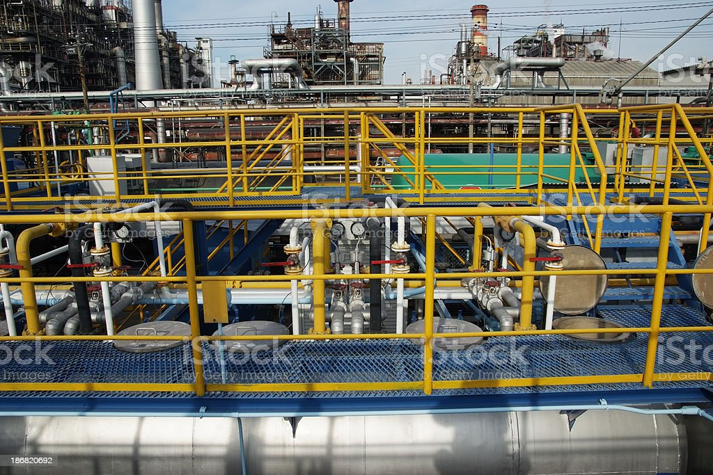 Chemical Plants Backgrounds royalty-free stock photo