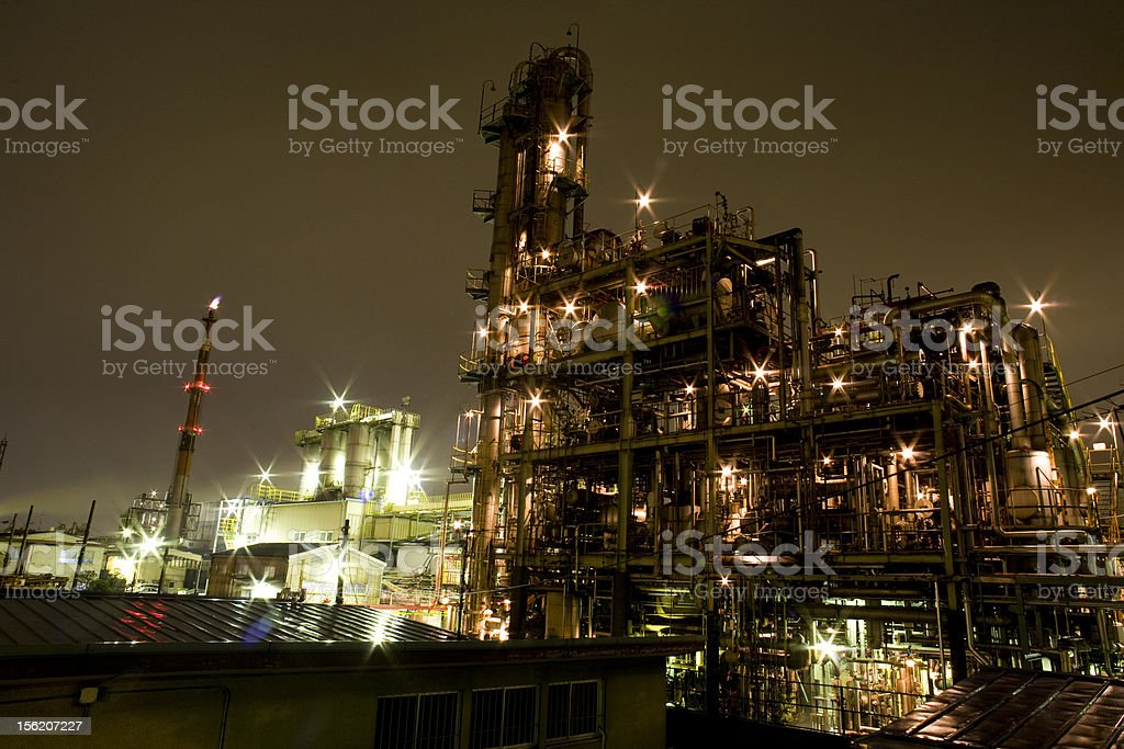 Chemical Plants royalty-free stock photo