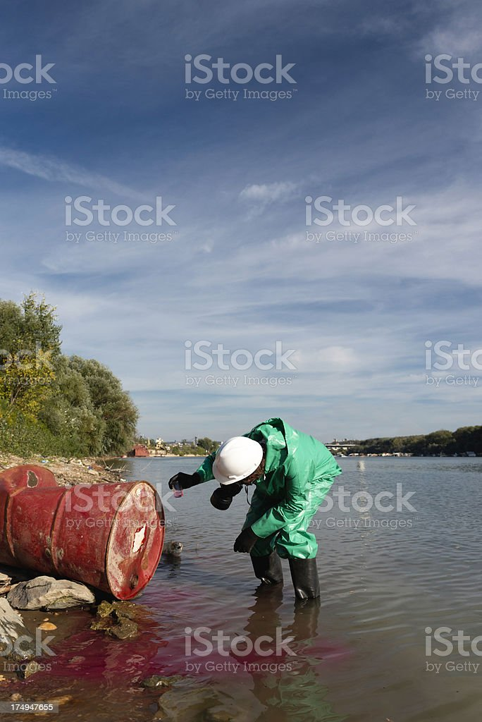 Chemical pollution site royalty-free stock photo