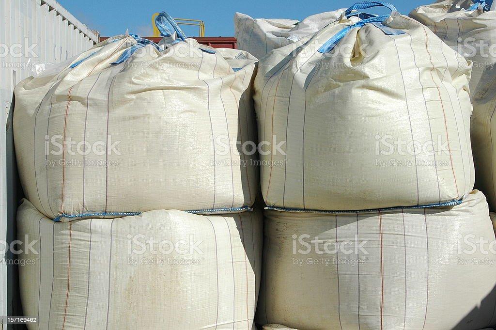Chemical powder sacks royalty-free stock photo