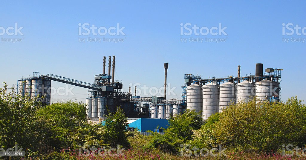 Chemical Processing Factory royalty-free stock photo