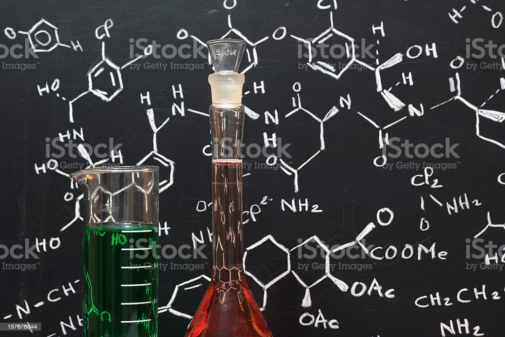 chemical products and formula royalty-free stock photo