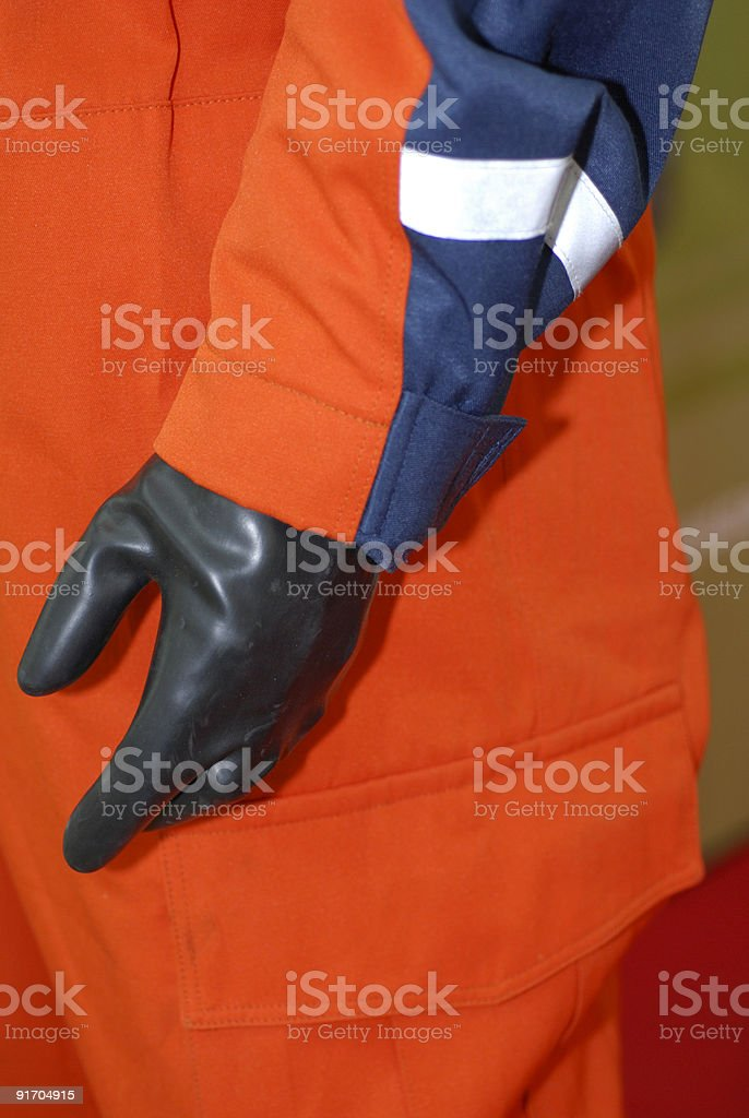 Chemical protection suit stock photo