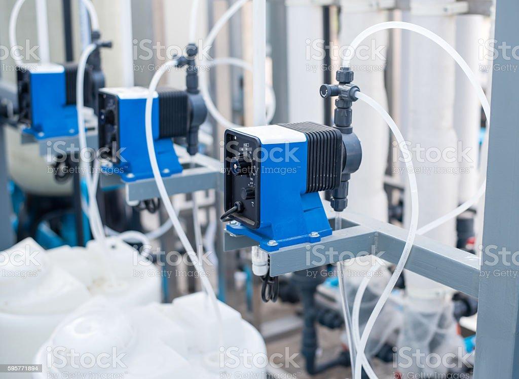 Chemical pump. stock photo