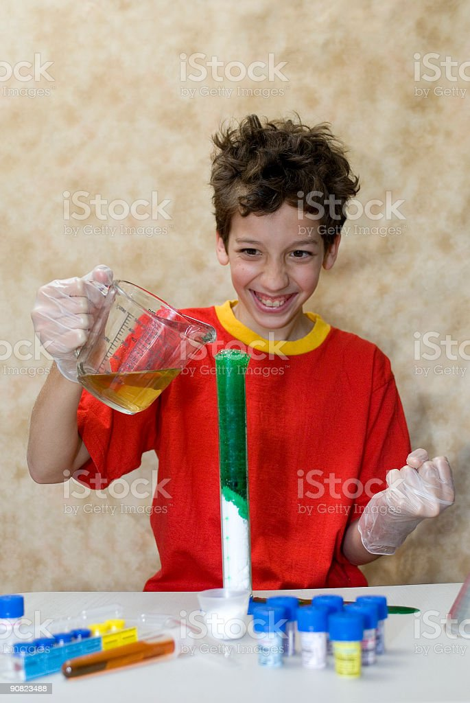 Chemical Reaction royalty-free stock photo