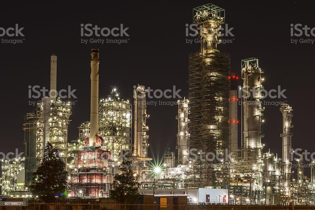 Chemical refinery in Botlek Rotterdam stock photo