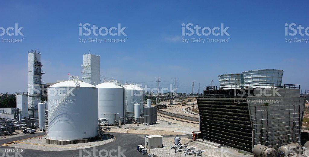 Chemical Refinery royalty-free stock photo