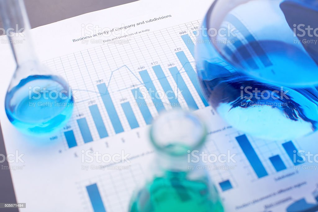 Chemical report stock photo