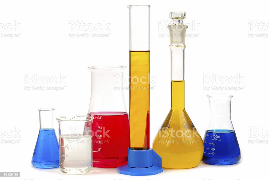 chemical retorts royalty-free stock photo