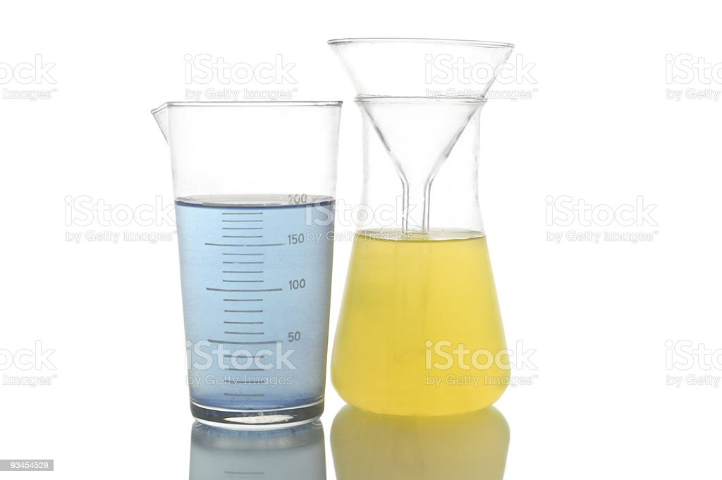 Chemical retorts royalty-free stock photo