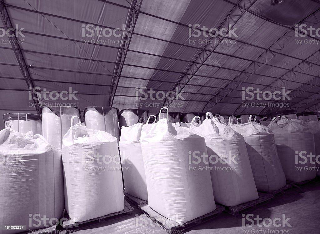 Chemical sacks stock photo