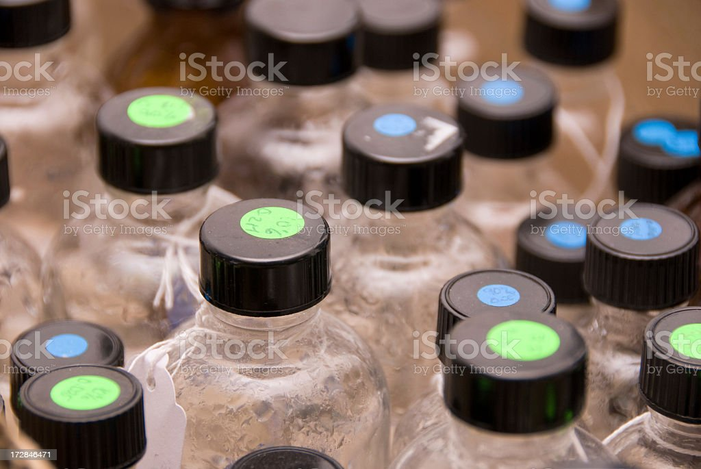 Chemical Sample Bottles royalty-free stock photo