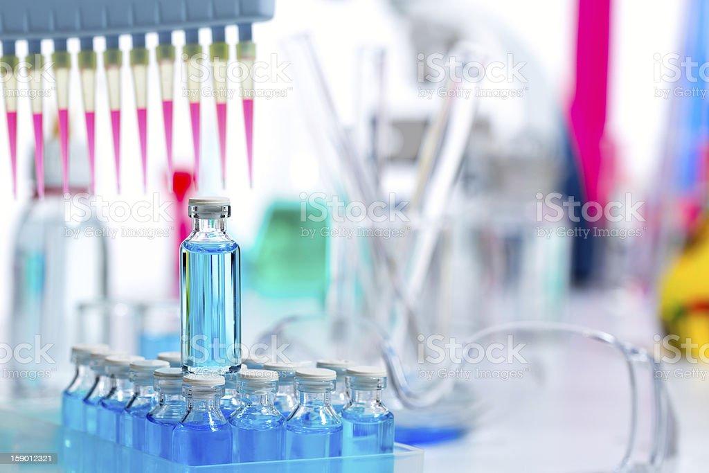 Chemical scientific laboratory multi channel pipette royalty-free stock photo