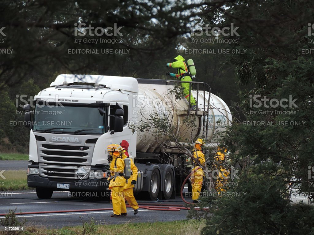 Chemical Spill Cleanup (1) stock photo