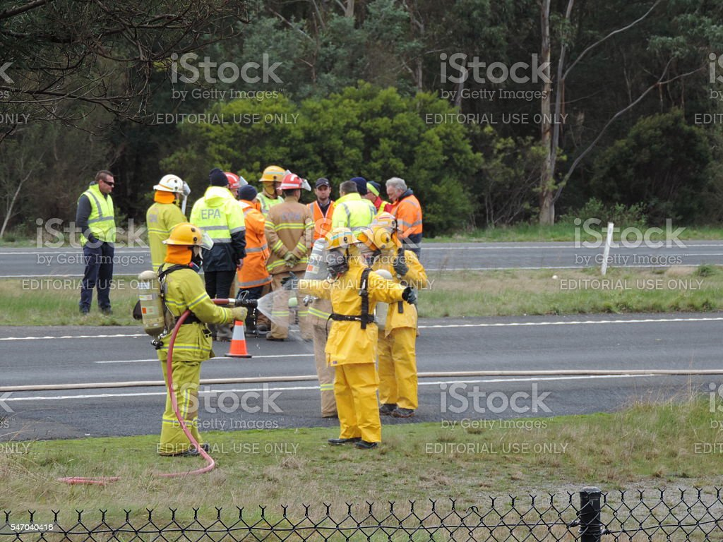 Chemical Spill Cleanup (2) stock photo