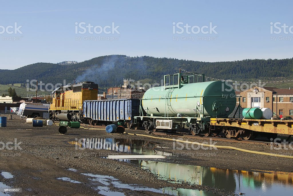 chemical spill stock photo