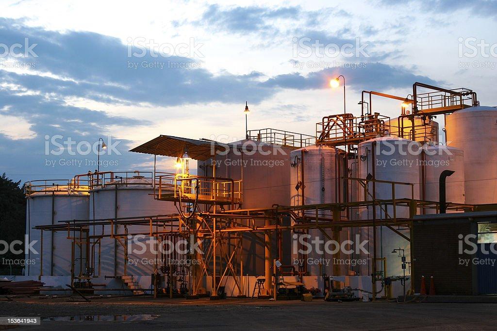 Chemical Storage Tank stock photo
