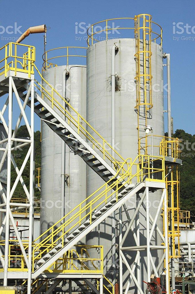 Chemical storage tanks royalty-free stock photo