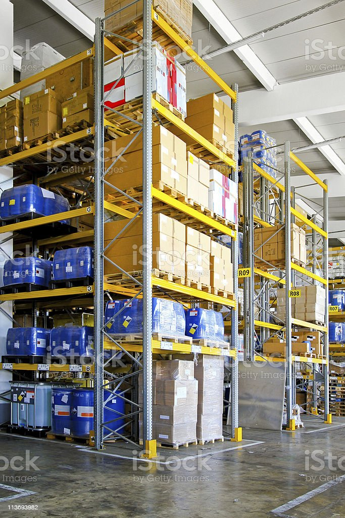 Chemical storehouse royalty-free stock photo