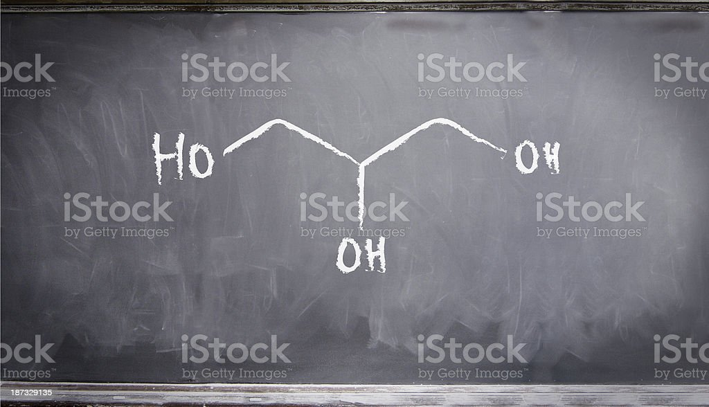 chemical structure water royalty-free stock photo