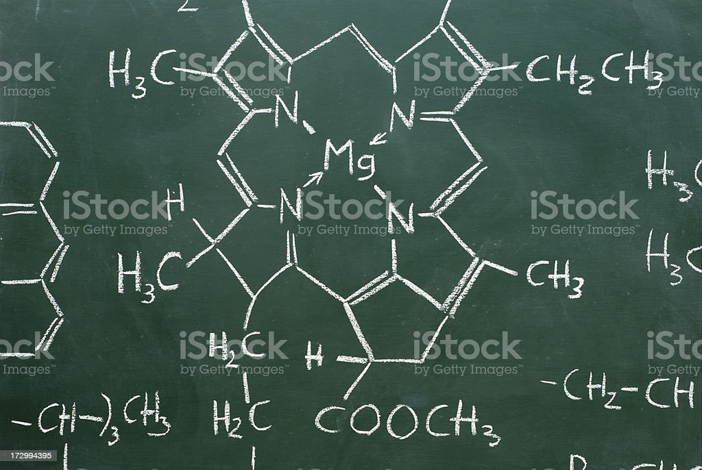 chemical structures stock photo