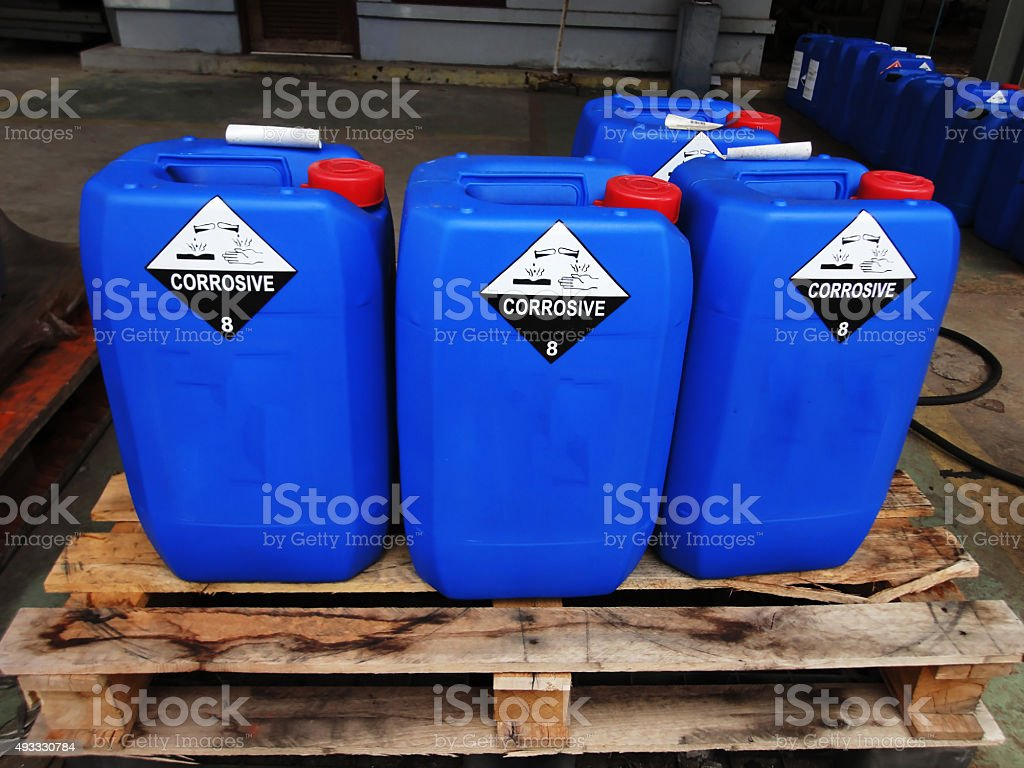 Chemical tank stock photo