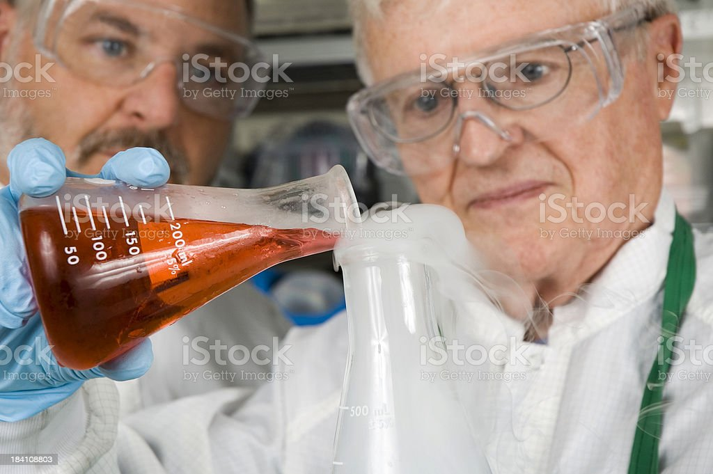 Chemical Technicians royalty-free stock photo