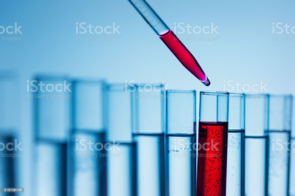 Chemical test, blood test stock photo
