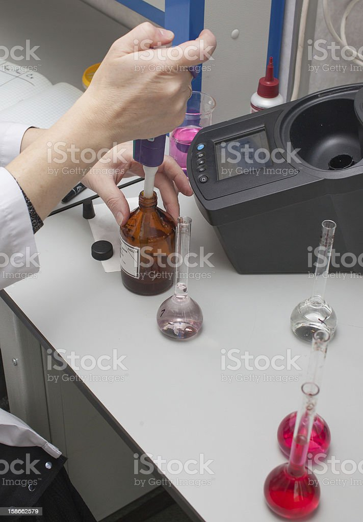 chemical test stock photo