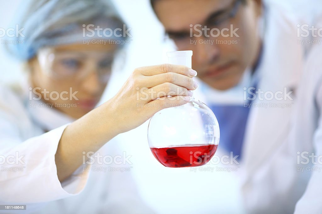 Chemical testing royalty-free stock photo