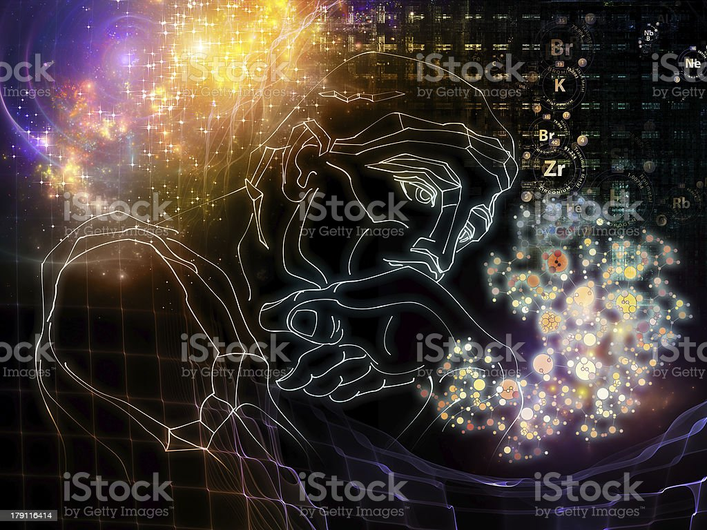 Chemical Thoughts royalty-free stock photo