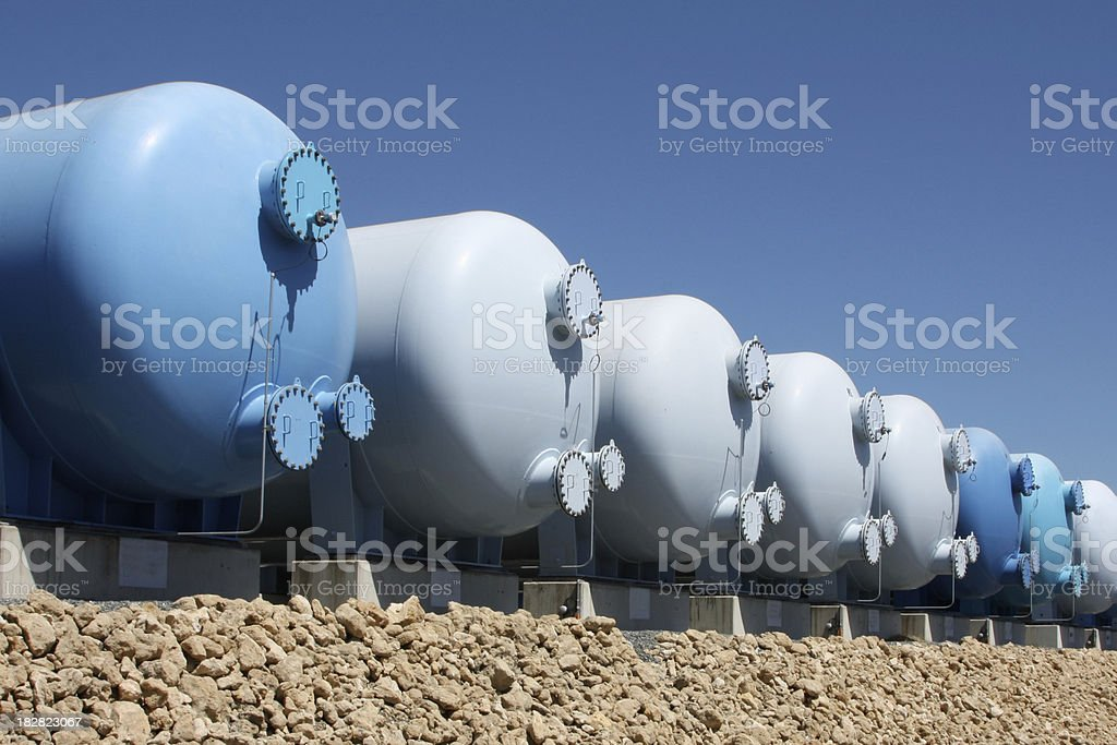 Chemical vessels royalty-free stock photo