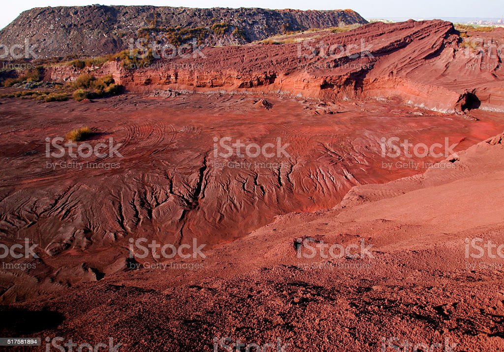 Chemical waste fields stock photo