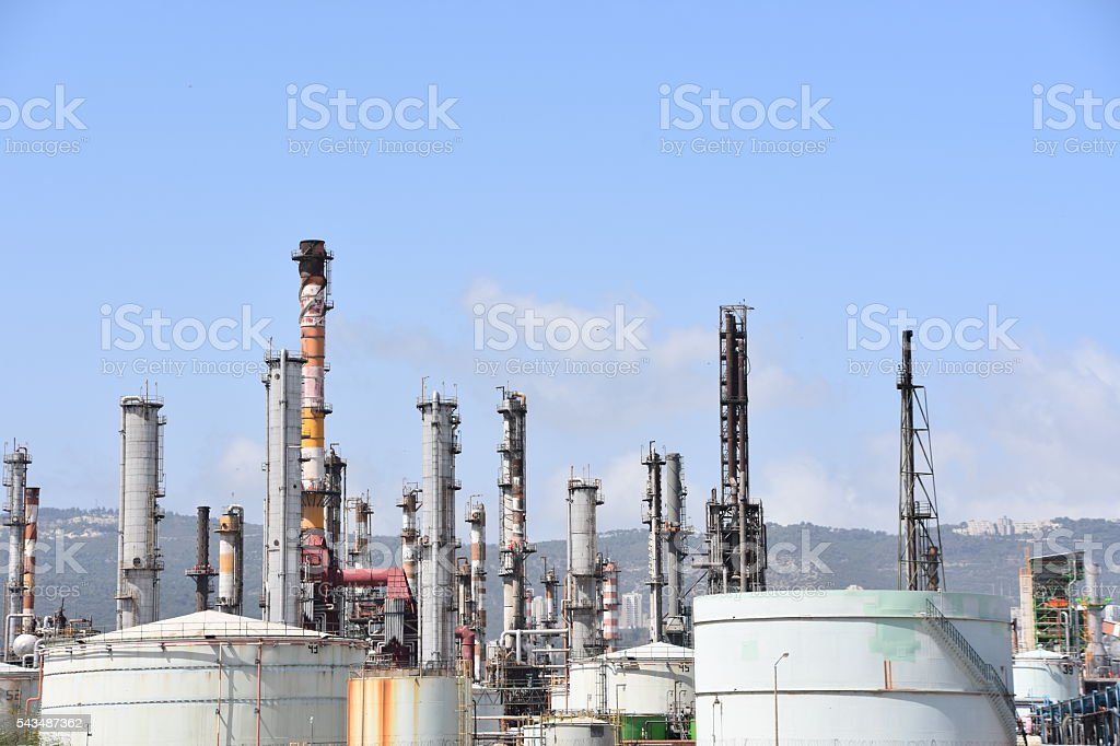 Chemicals factory stock photo