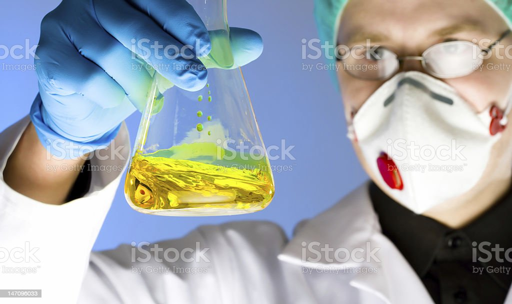 chemist at work royalty-free stock photo