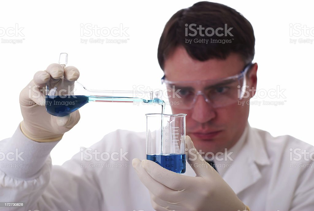 Chemist Measuring royalty-free stock photo